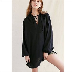 Urban outfitters urban renewal size tie poncho